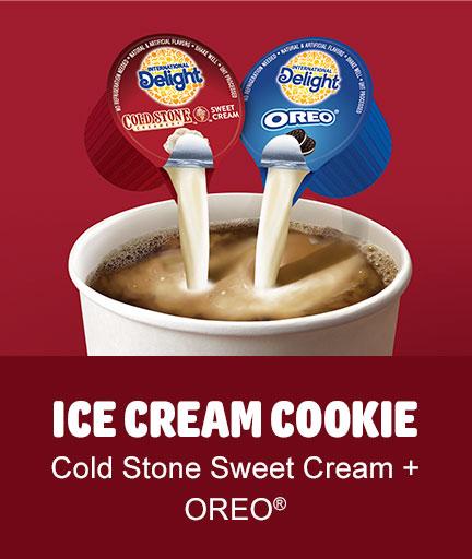 ICE CREAM COOKIE: Cold Stone Sweet Cream + OREO®