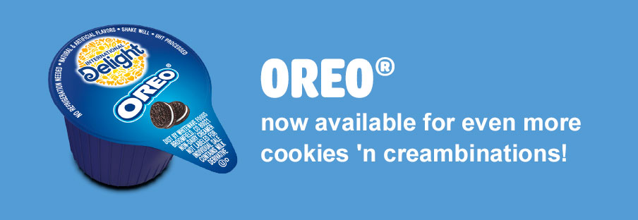 OREO® now available for even more cookies 'n creambinations!
